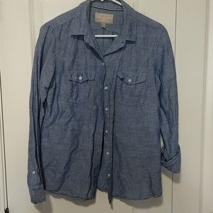 Chambray banana republic shirt
